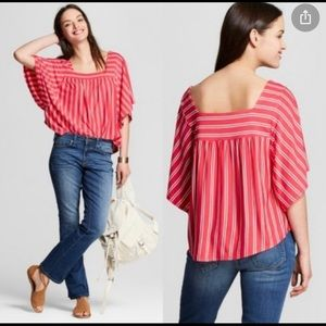 Universal Thread Stripes Batwing Sleeve Blouse
